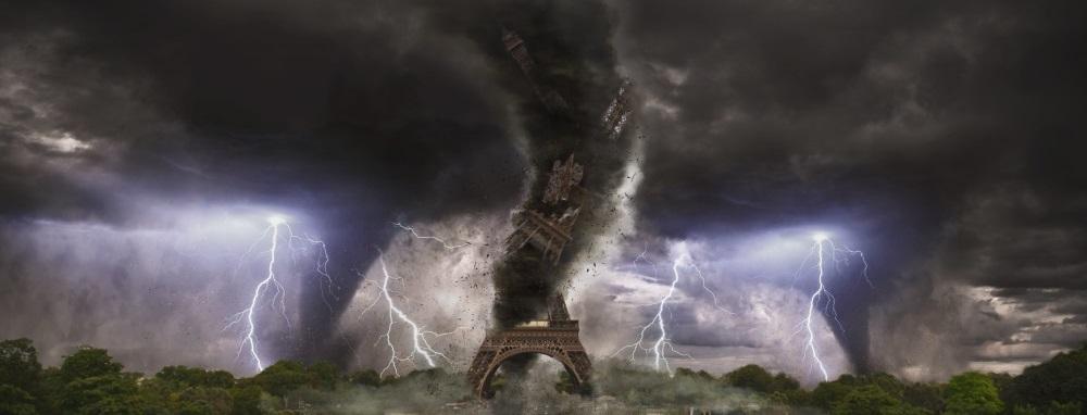 Vortex sur la  Tour Eiffel