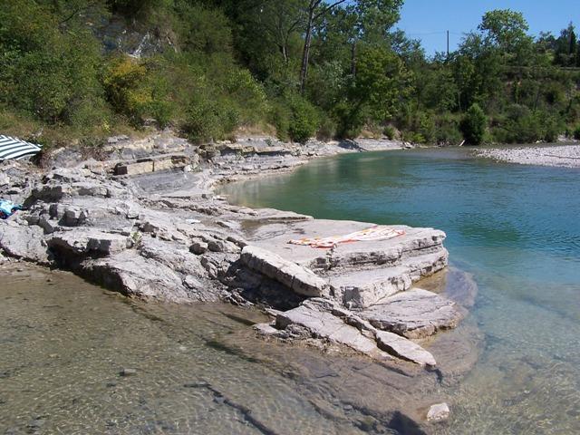 Baignade dans la Drôme